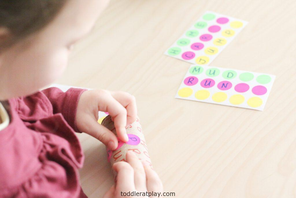 paper roll word search activity - toddler at play (3)