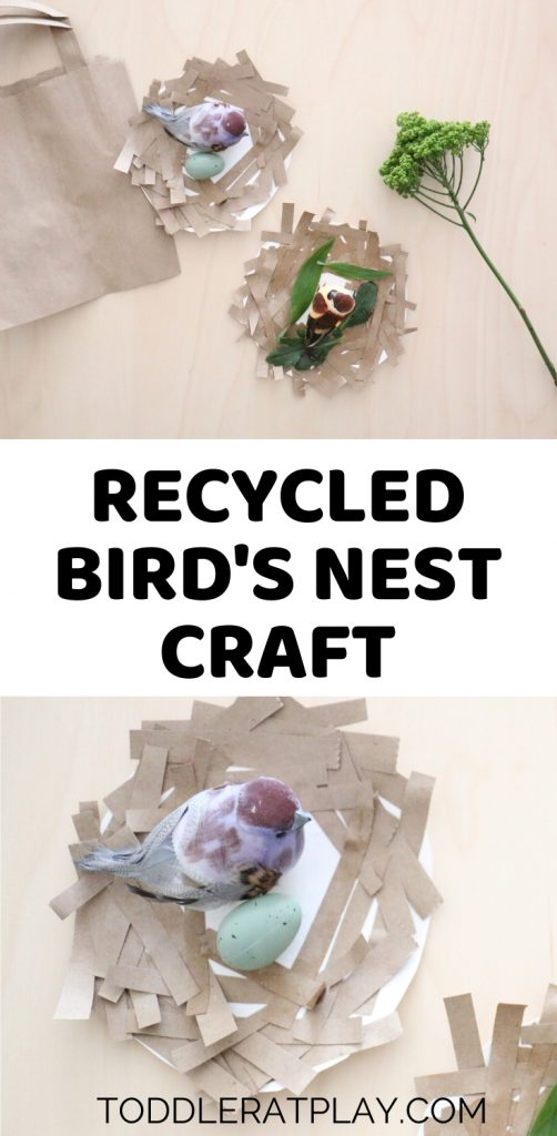 recycled bird's nest craft- toddler at play (2)