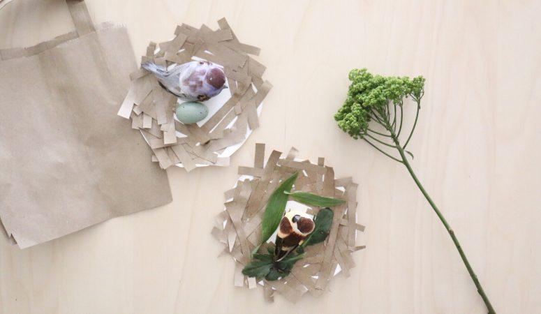 Recycled Bird's Nest Craft