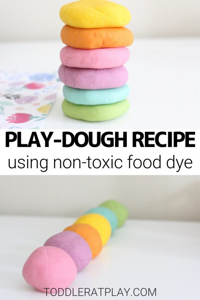 the best play-dough recipe- toddler at play