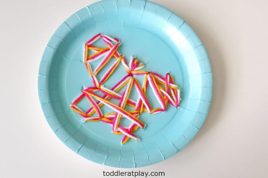 Butterfly Paper Plate Threading- toddler at play (7)