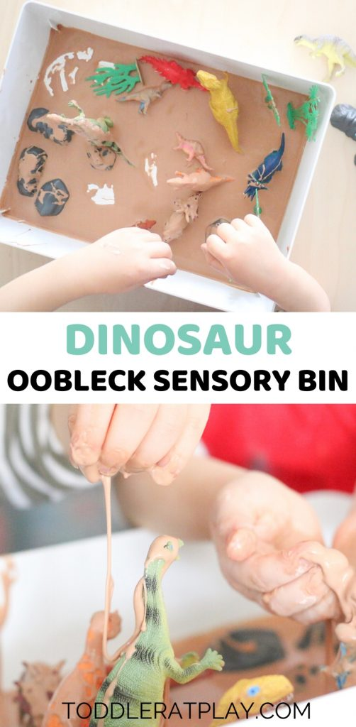 dinosaur oobleck sensory bin- toddler at play (2)