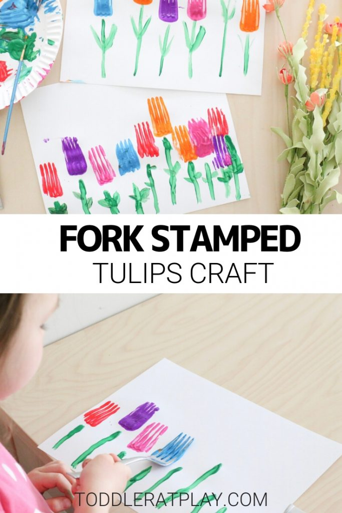 fork stamped tulips craft- toddler at play (8)