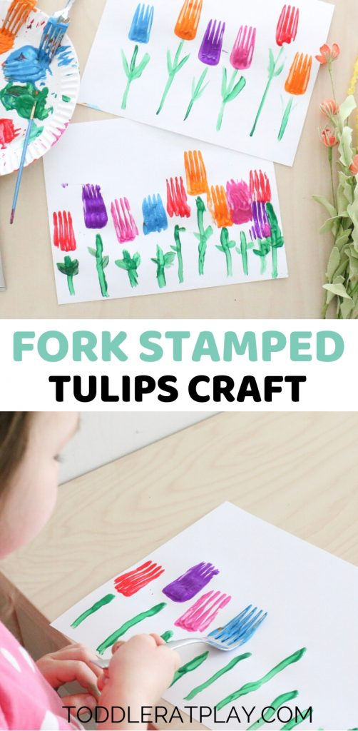 fork stamped tulips craft- toddler at play (2)