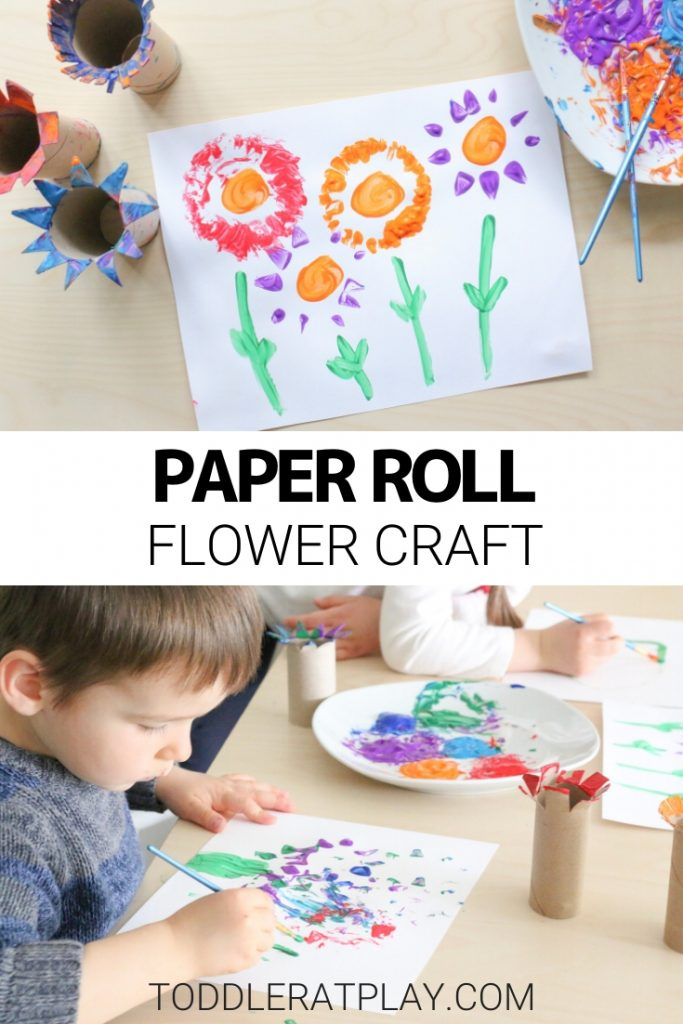 paper roll flower craft - toddler at play (2)
