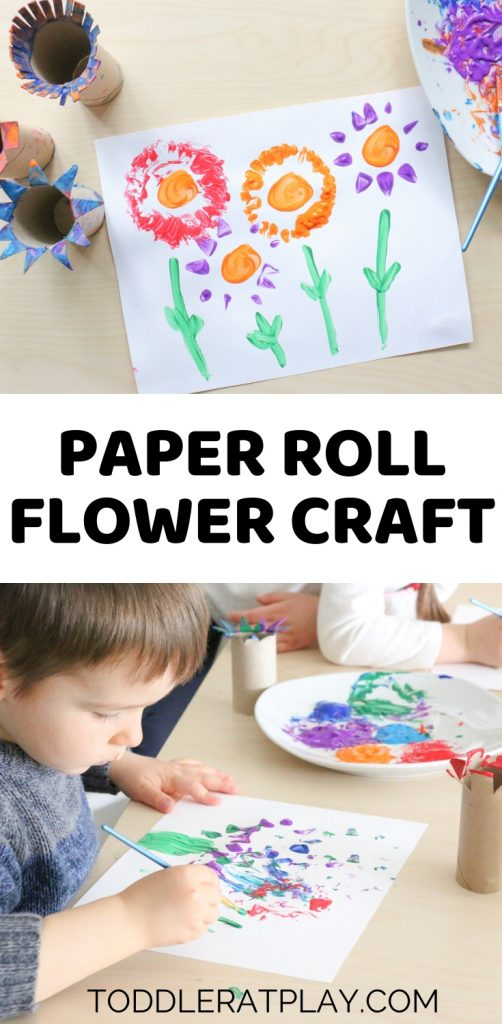paper roll flower craft - toddler at play (3)