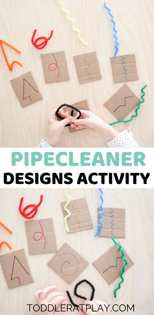 pipecleaner designs activity - toddler at play (2)