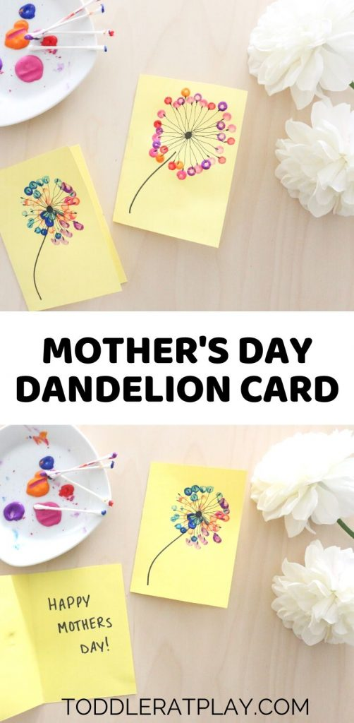 mother's day dandelion card- toddler at play (2)